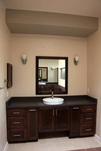 clean sink and mirror